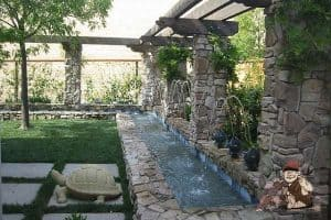 custom stone water feature