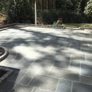 Gray Sequatchie cut pattern installed by The Rock Masonry Company
