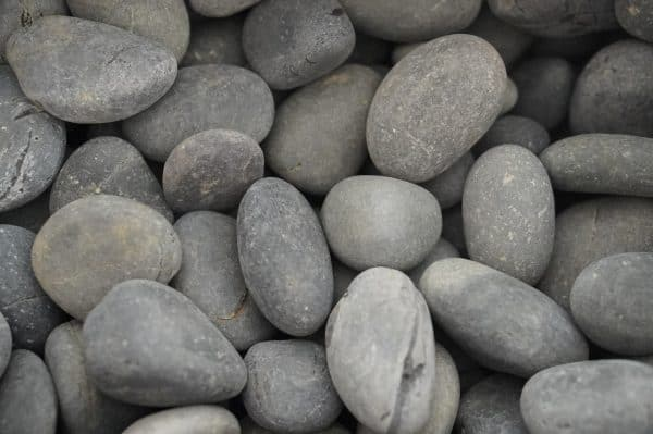 Black Beach Pebbles Landscaping Supplies from Field Stone Center Inc. in Covington, GA.