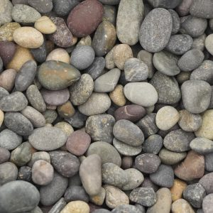 Mixed Color Beach Pebbles Landscaping Supplies from Field Stone Center Inc. in Covington, GA.